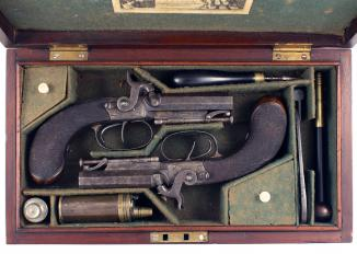 A Cased Pair of D.B. Pistols by Mortimer