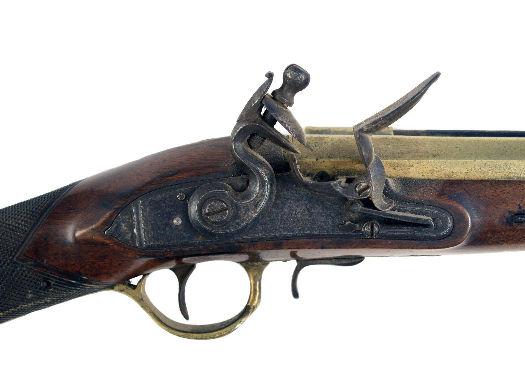 A Flintlock Blunderbuss by Cox & Weatherhead