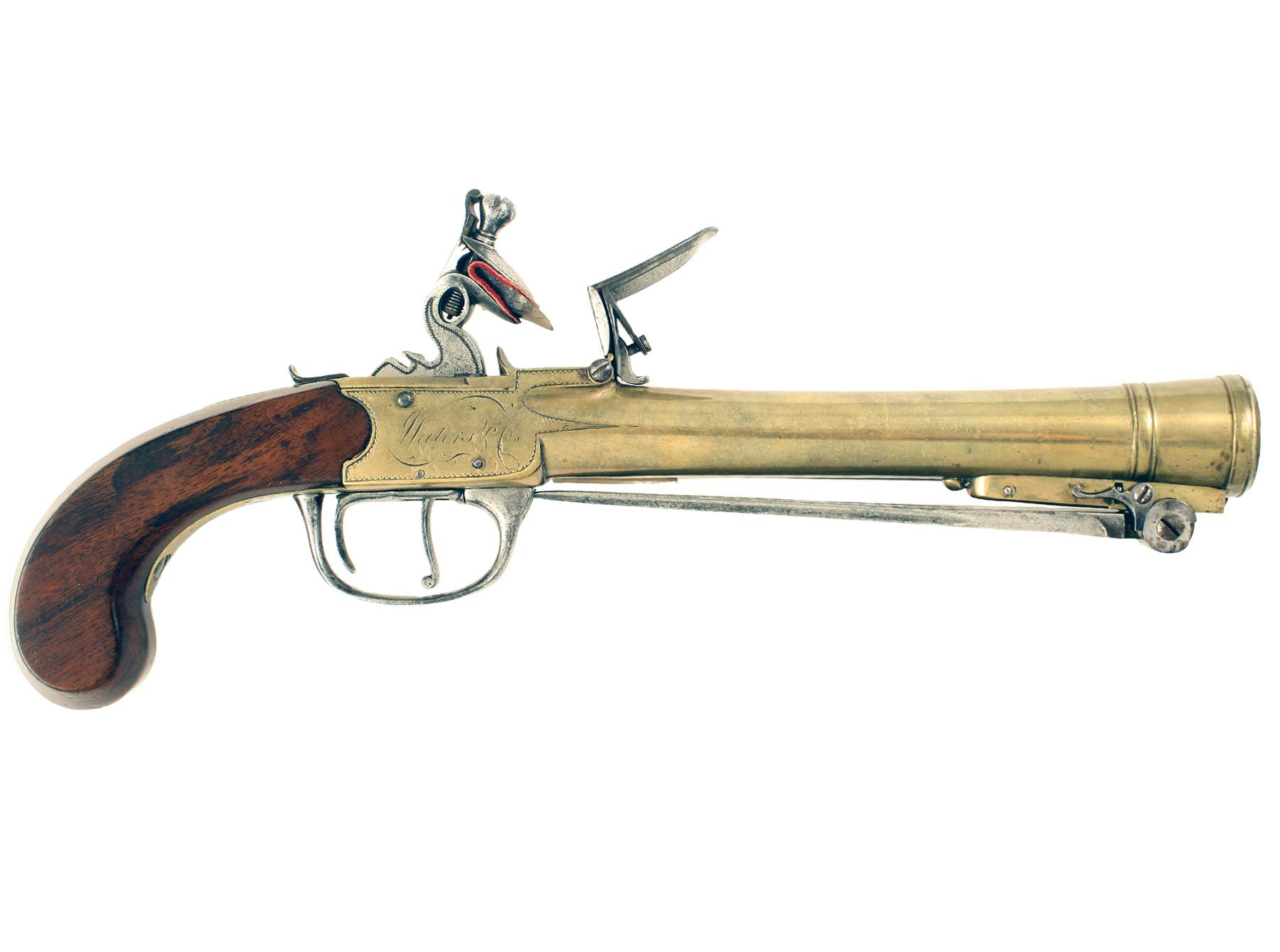 A Waters Patent Blunderbuss Pistol