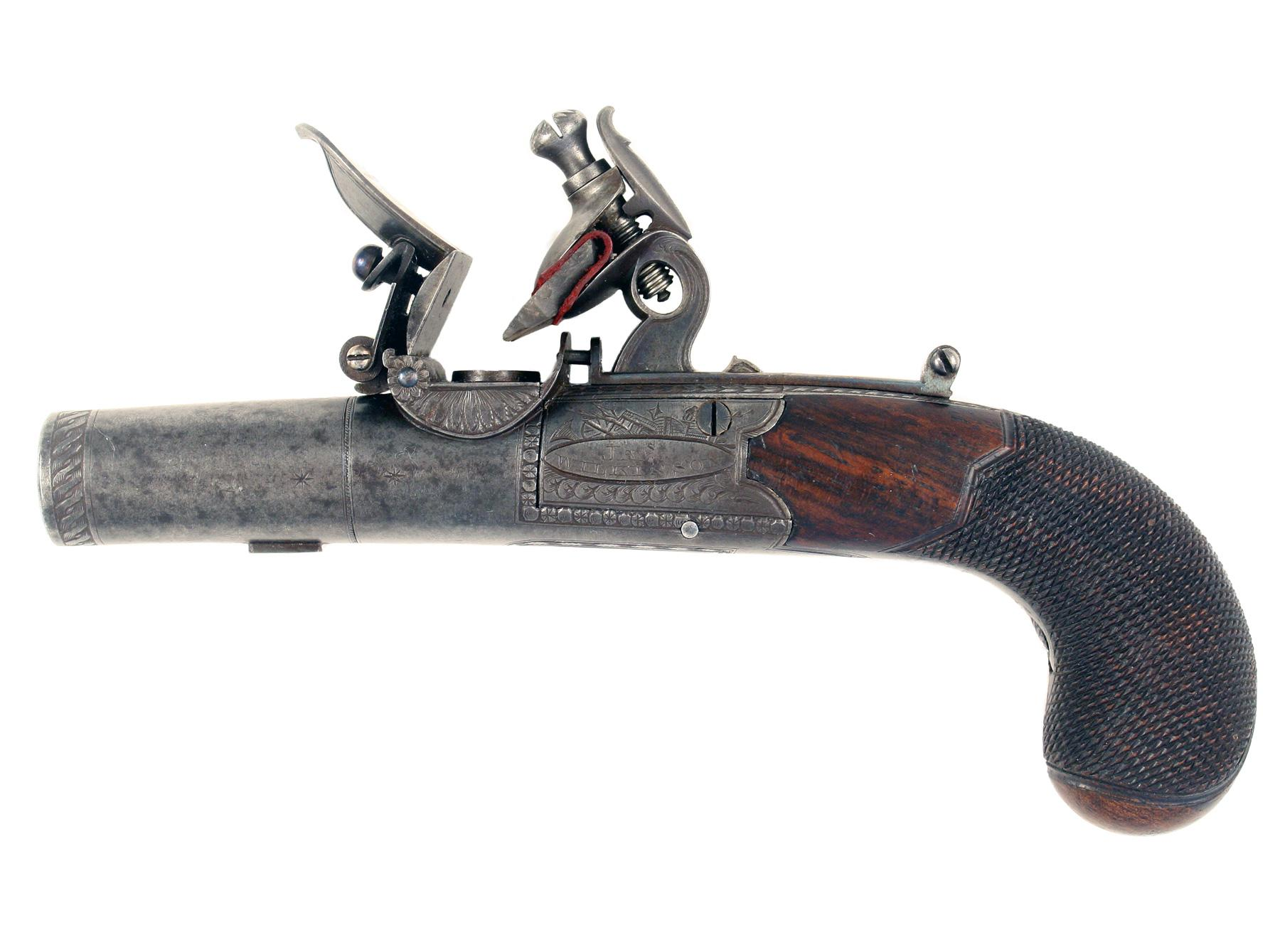 A Fine Flintlock Pocket Pistol by Wilkinson