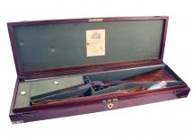 A Cased 12-Bore D.B. Percussion Sporting Gun by Wesley Richards