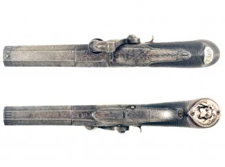 A Percussion Pistol by Clabrough of Lincoln
