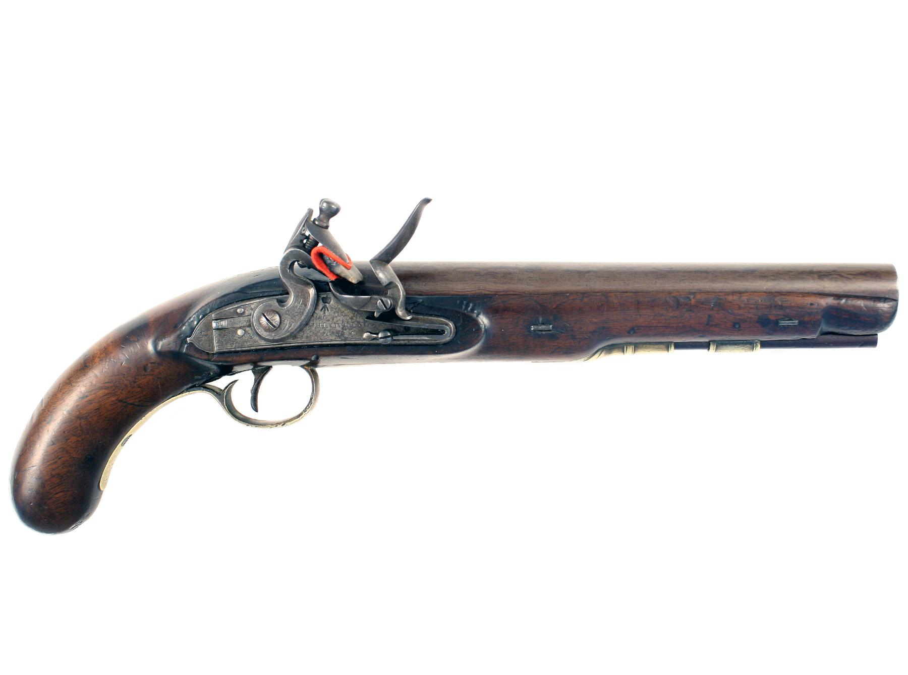 A Scarce Flintlock 'Post Boys' Pistol