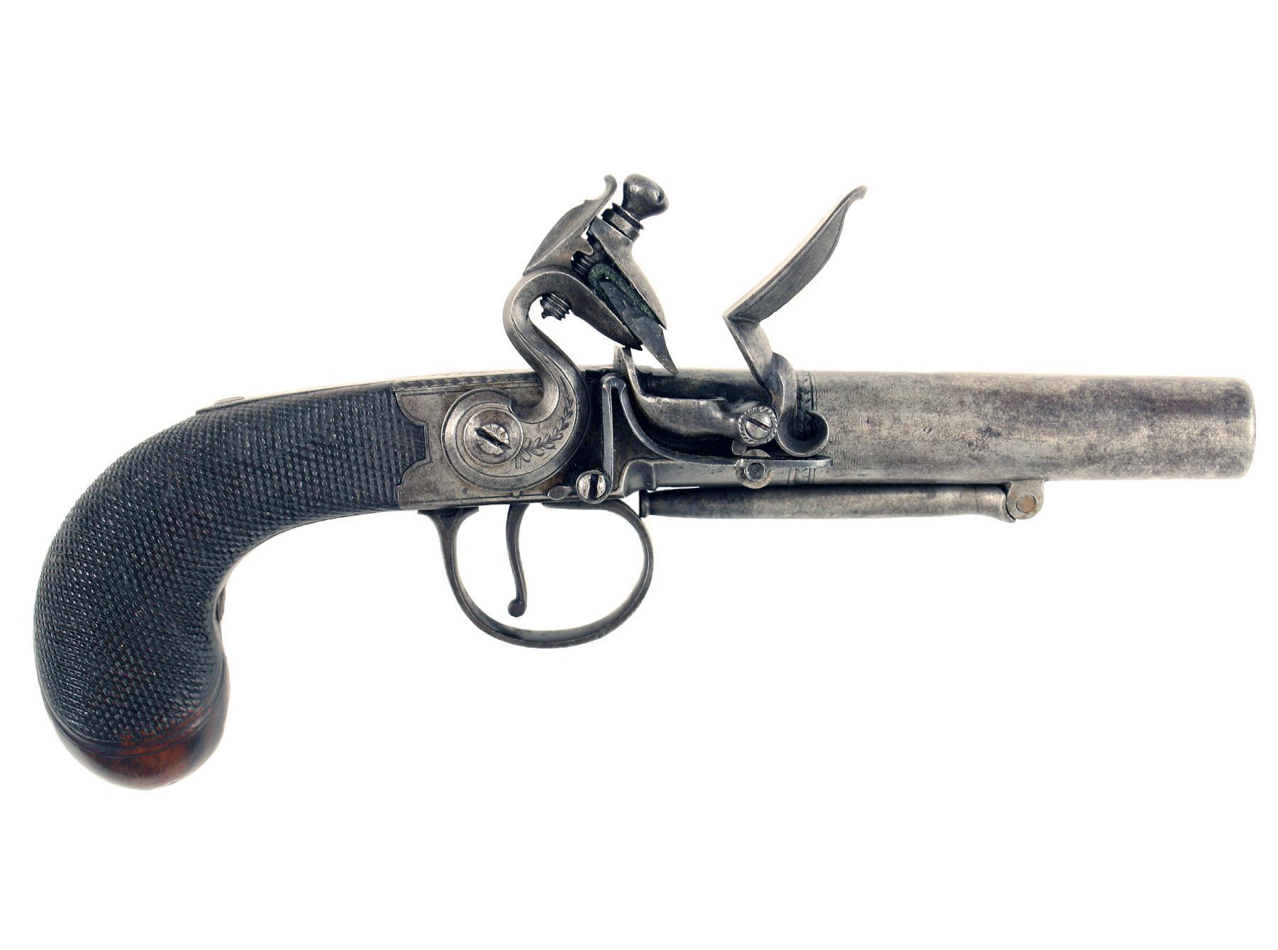 A Pair of Flintlock Pistols by W. Parker of London