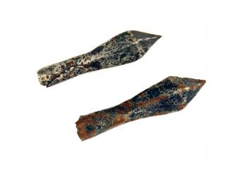 Two Medieval Iron Crossbow Bolts