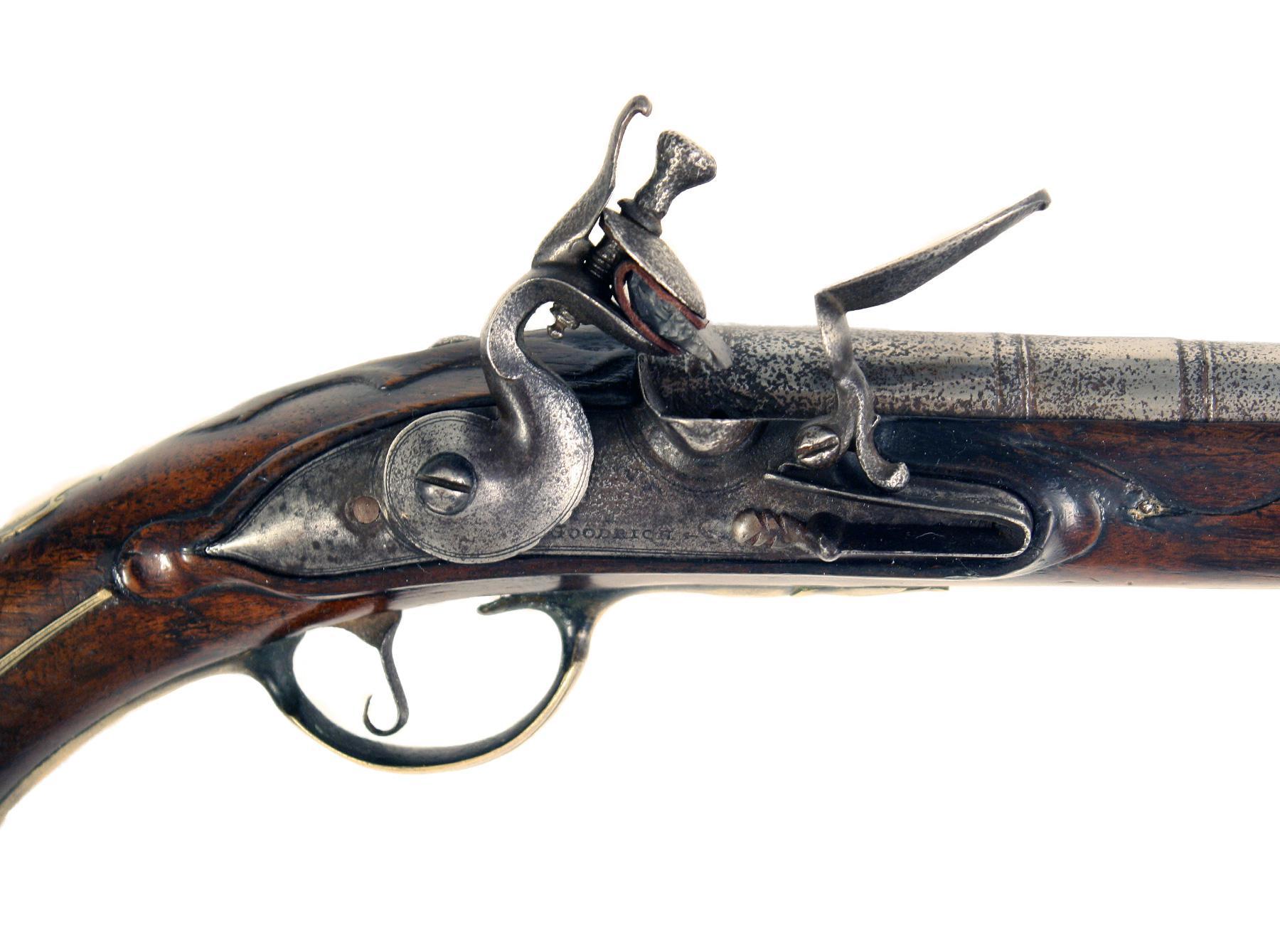 A Flintlock Holster Pistol by Goodridge