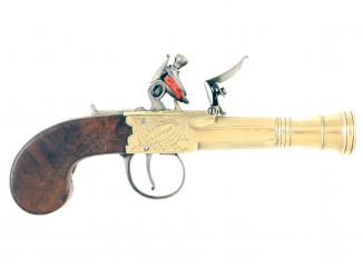 A Flintlock Blunderbuss Pistol by Court of London