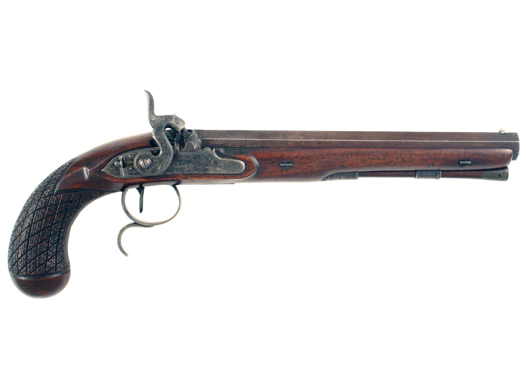 A Percussion Duelling Pistol by Barton.