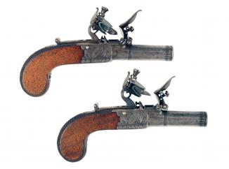 A Small Pair of Flintlock Muff Pistols