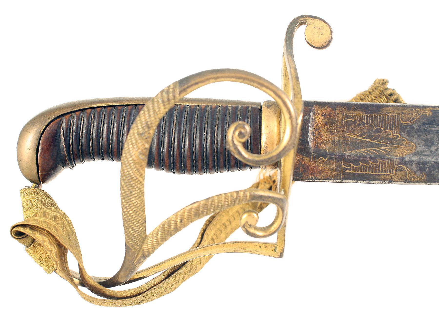 A Scarce S-Bar Hilted Sword