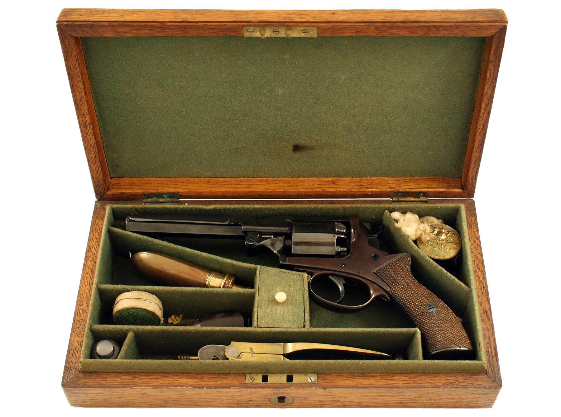 A Cased Beaumont Adams