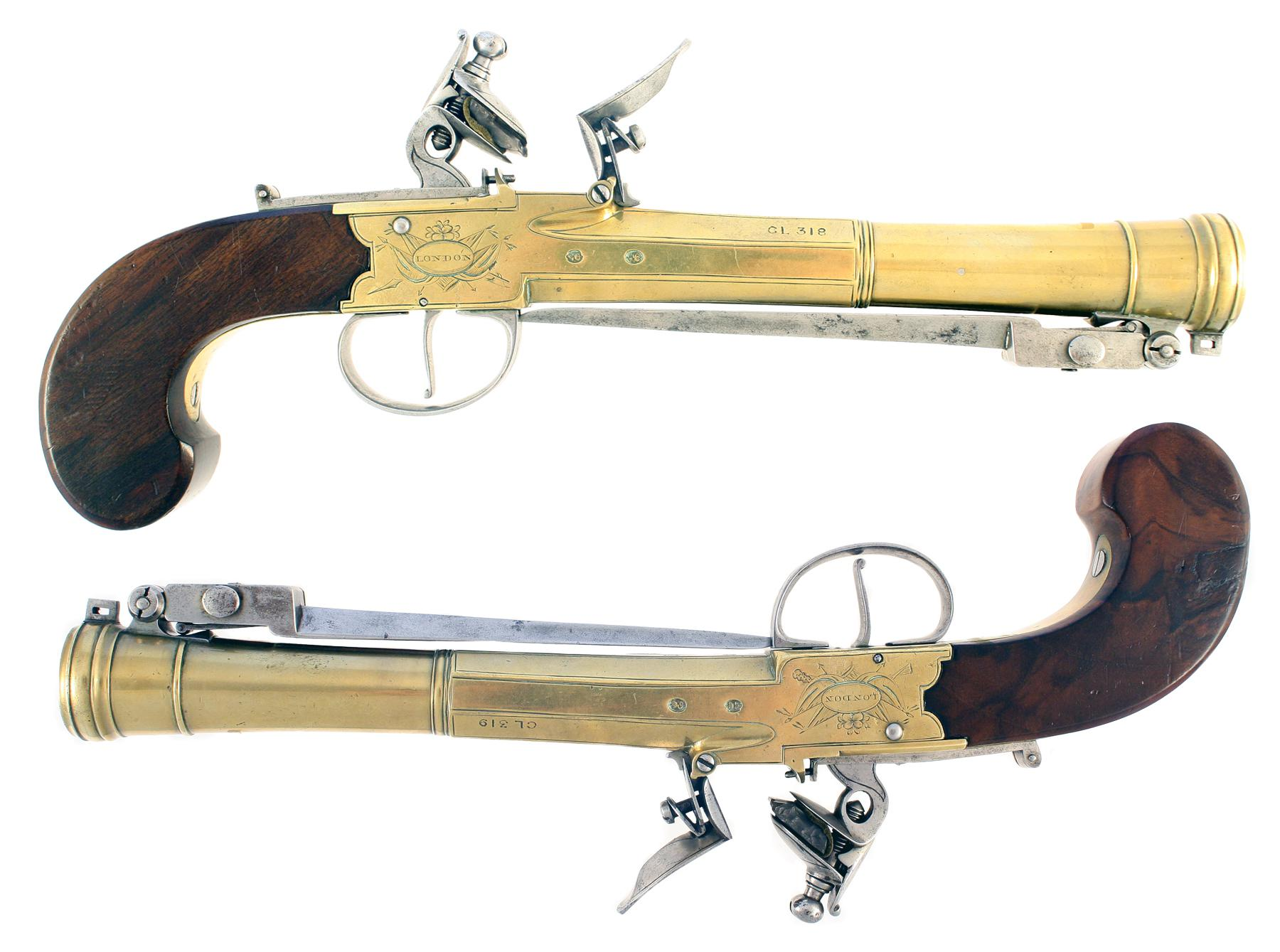 A Superb Pair Of Blunderbuss Pistols