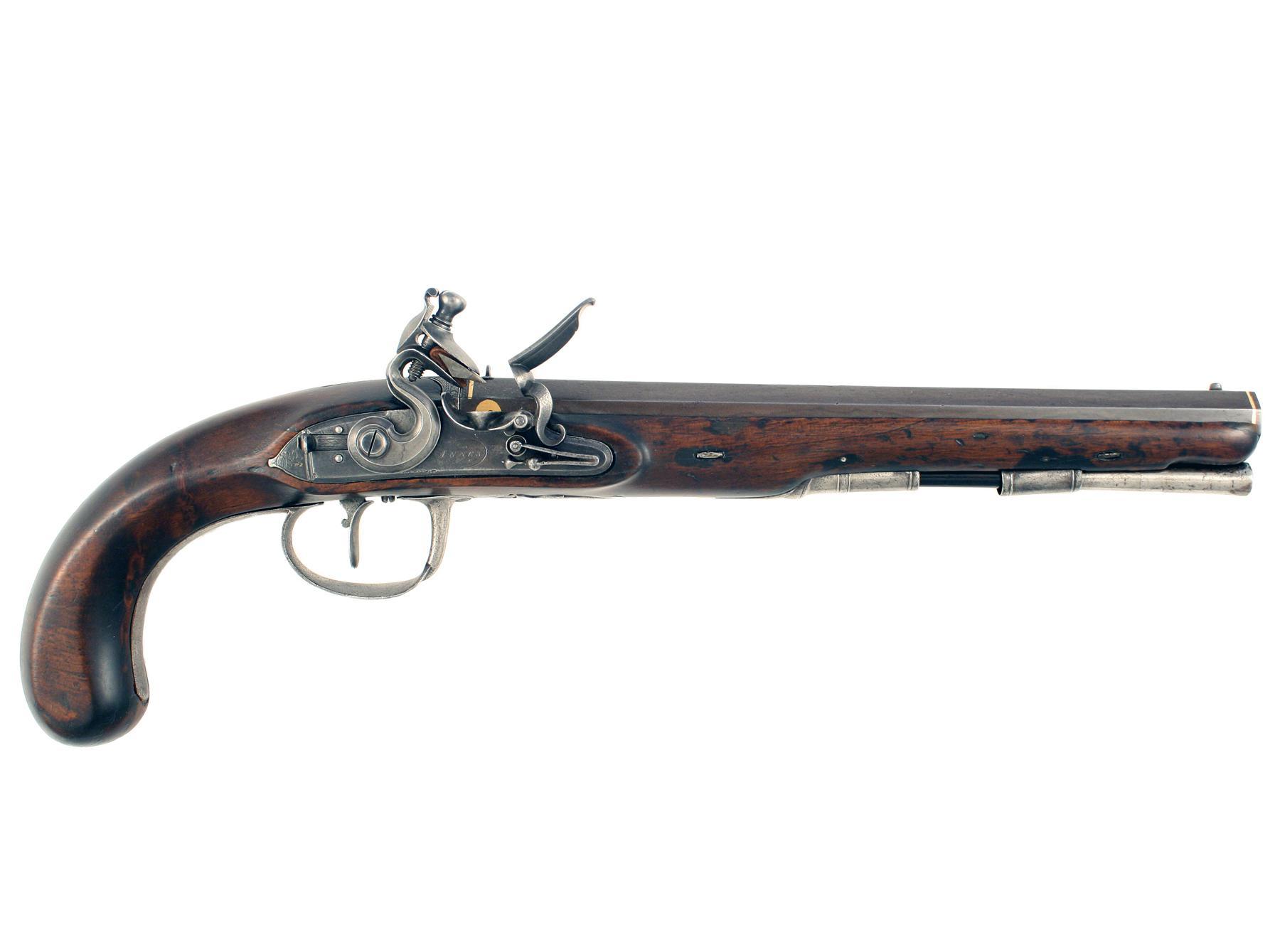 A Flintlock Duelling Pistol