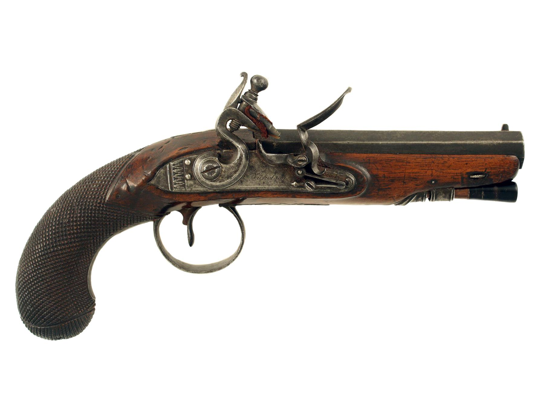A Flintlock Overcoat Pistol