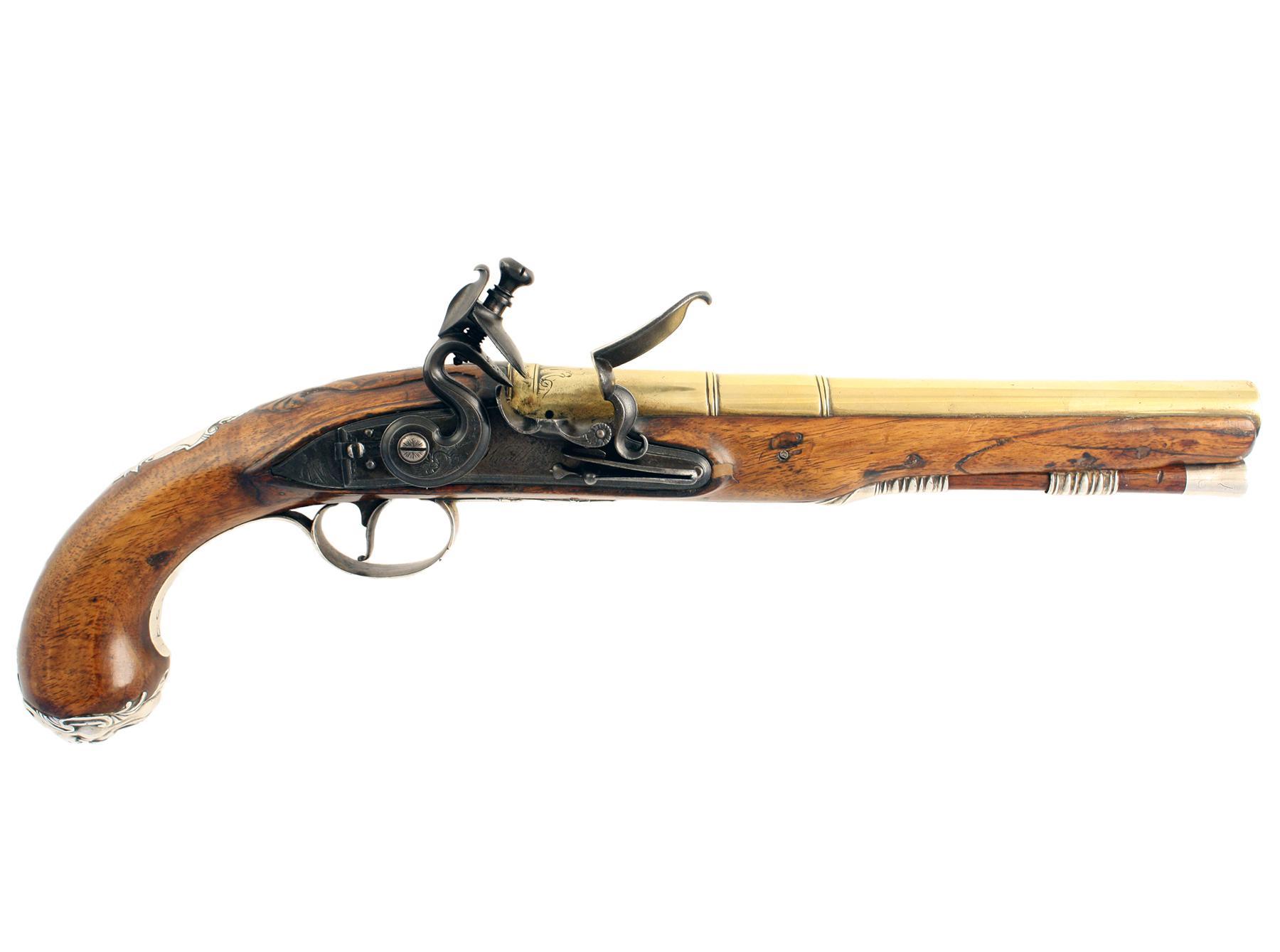 A Fine Silver Mounted Pistol