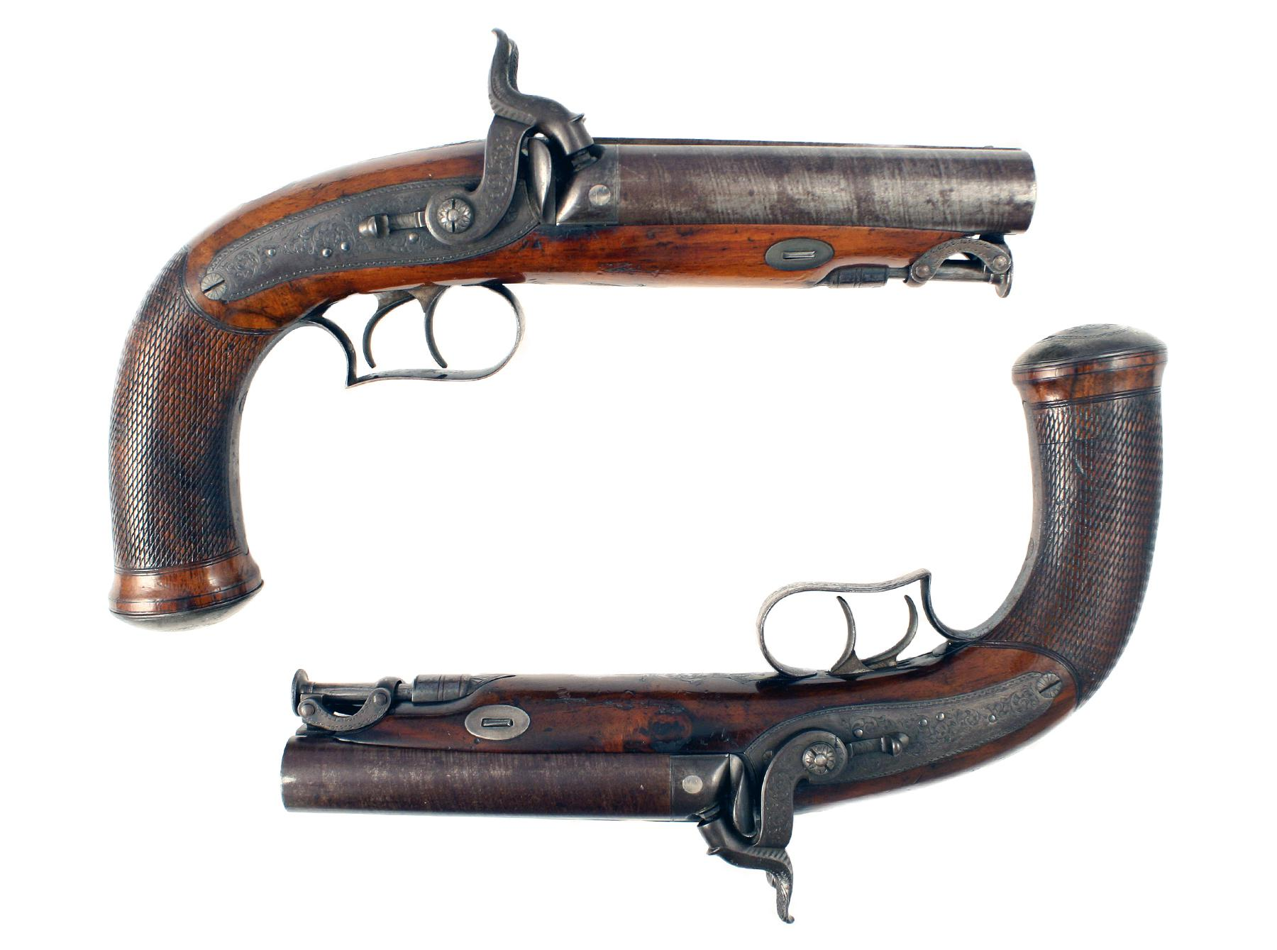A Pair of D.Egg Howdah Pistols