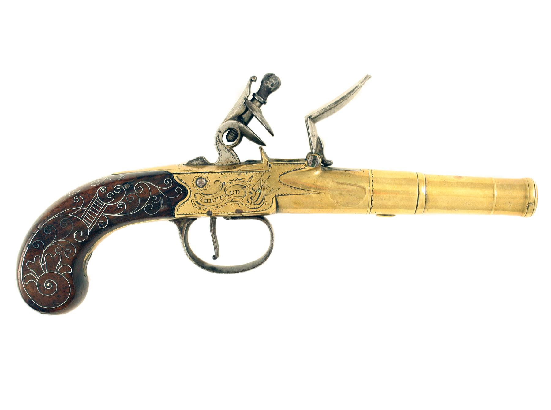 A Silver Inlaid Pistol