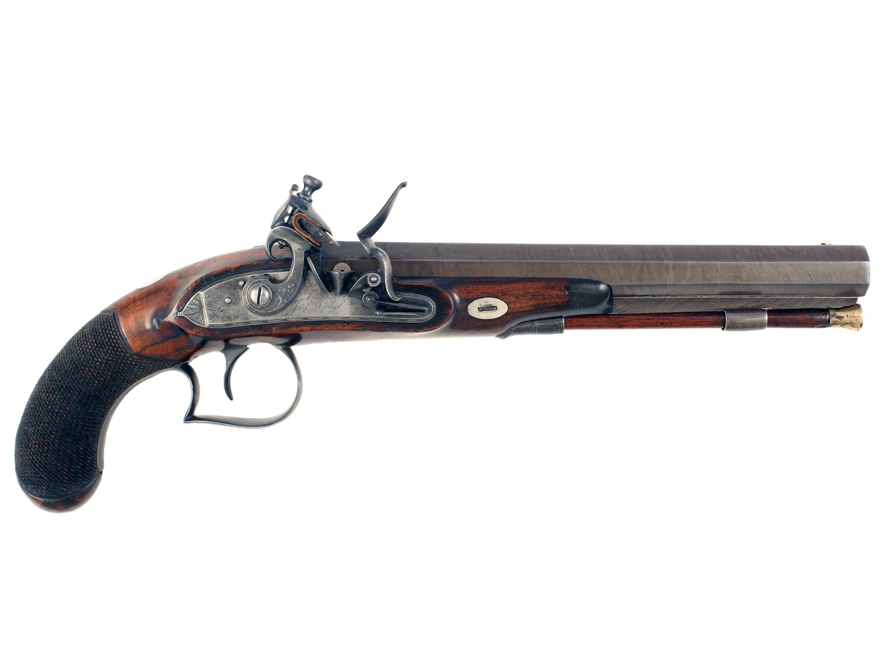 A Flintlock Duelling or Officers Pistol