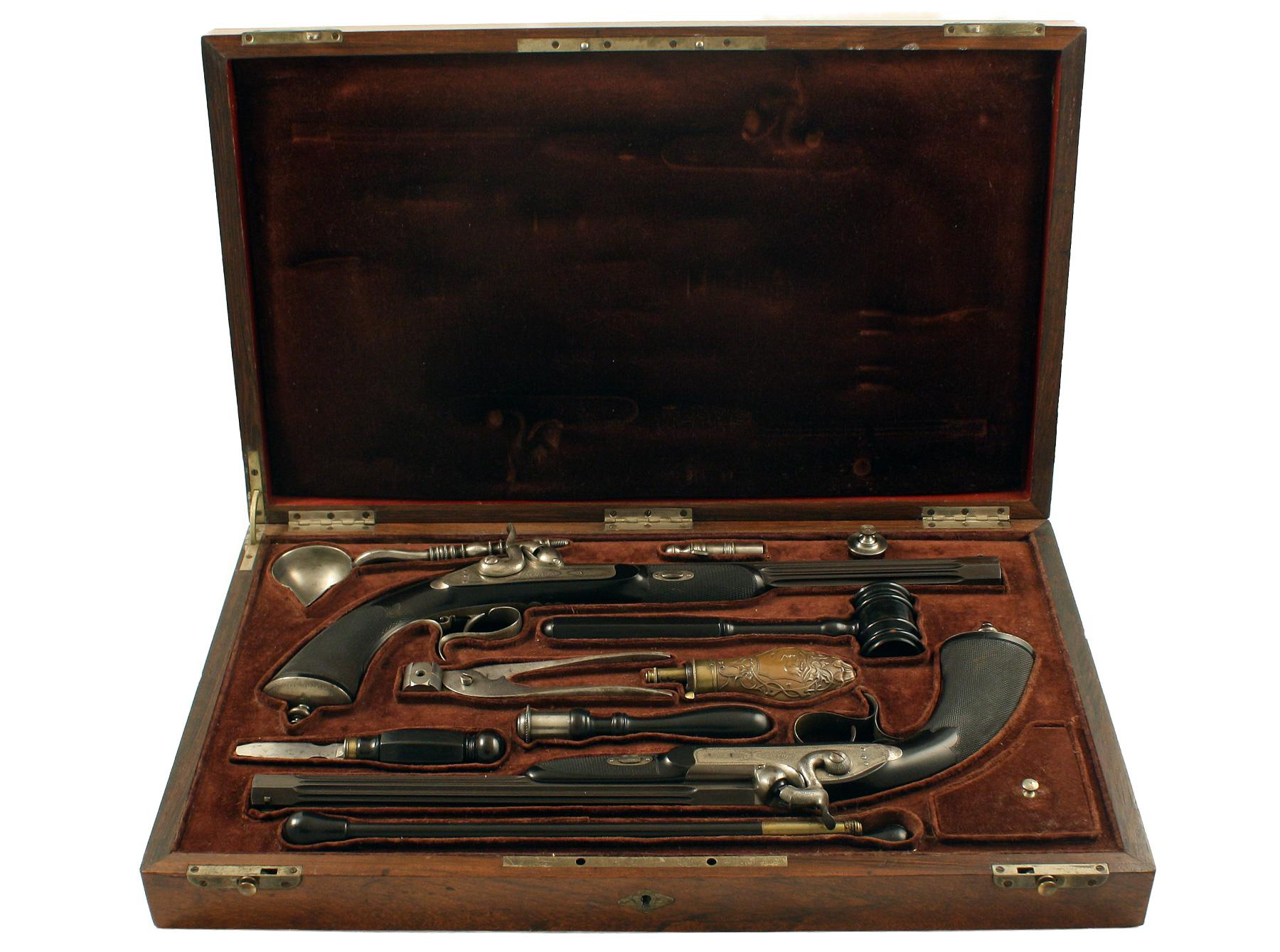 A Cased Pair of Duelling Pistols