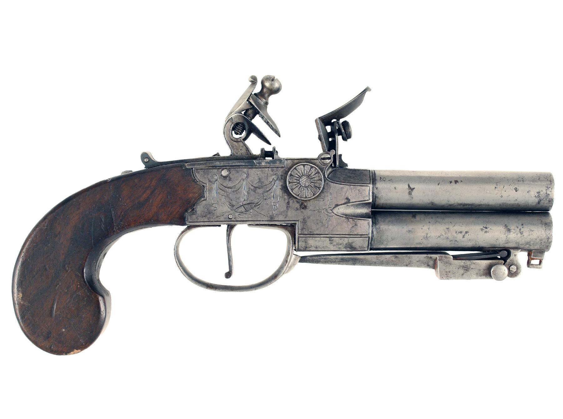 A Tap-Action Pistol With Bayonet