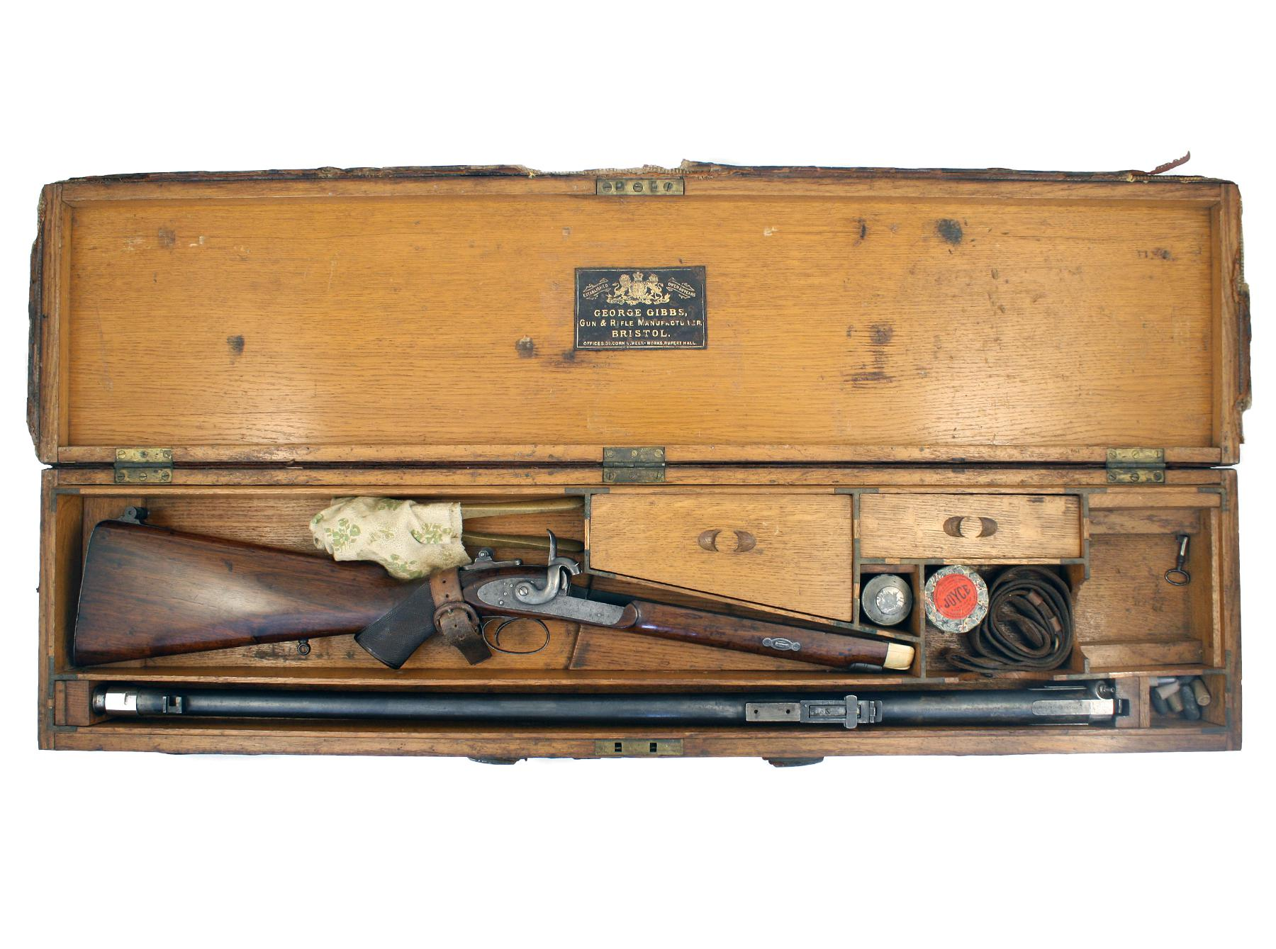 A Cased Gibbs Rifle