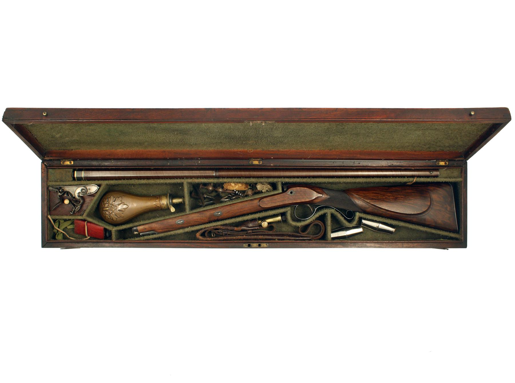 A Superb Cased Flintlock