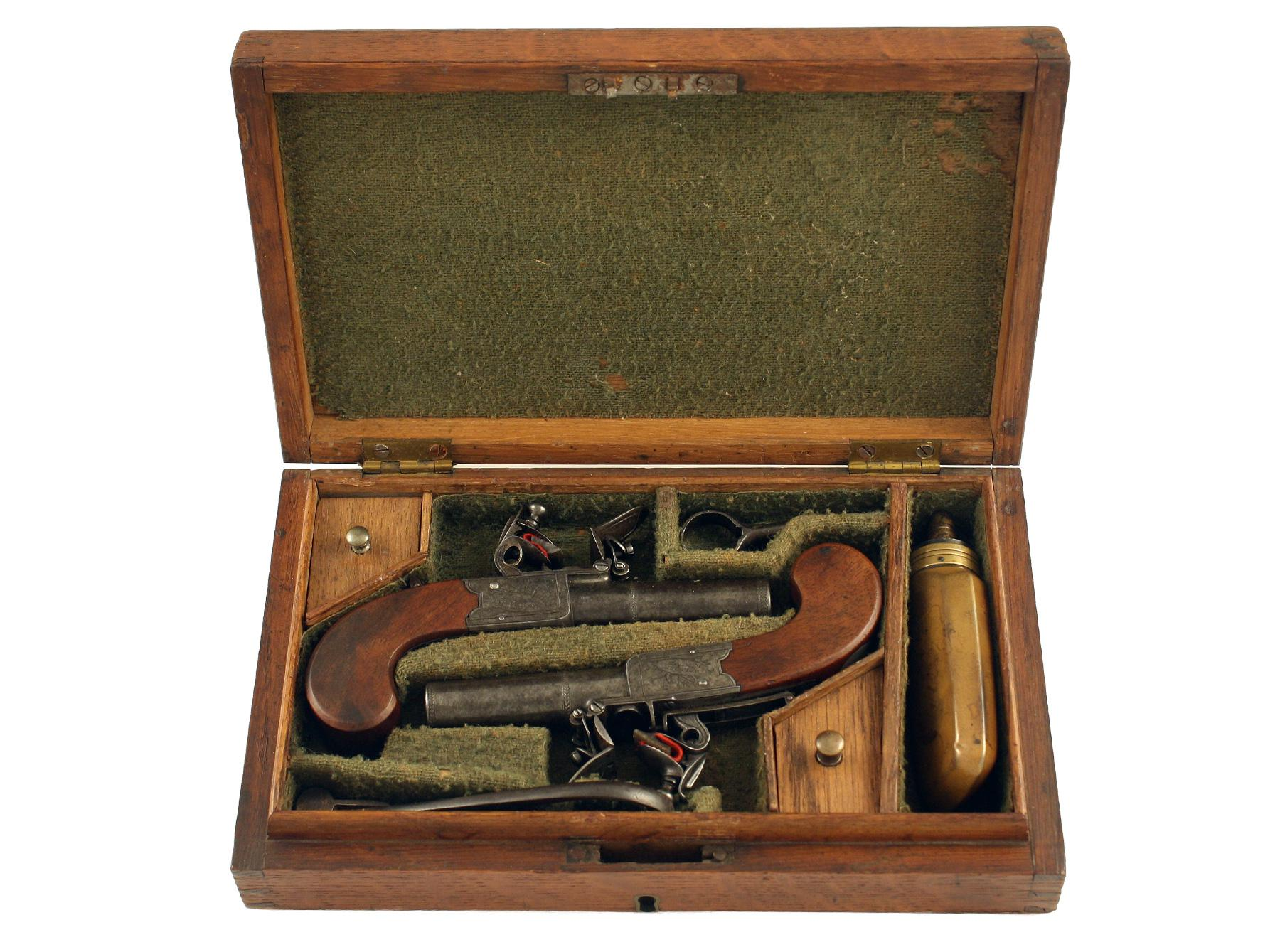 A Cased Pair Of Pocket Pistols