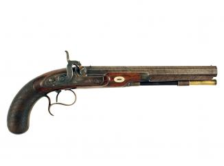 A Percussion Duelling Pistol with Secret Rifling