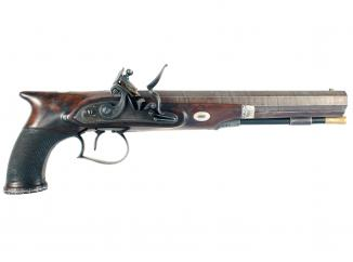 A Flintlock Duelling Pistol by Jones & Co.
