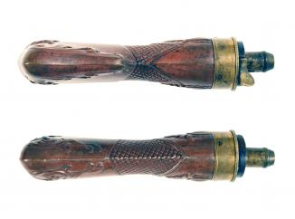An Incredibly Scarce Pistol Sized Rifle Butt Flask