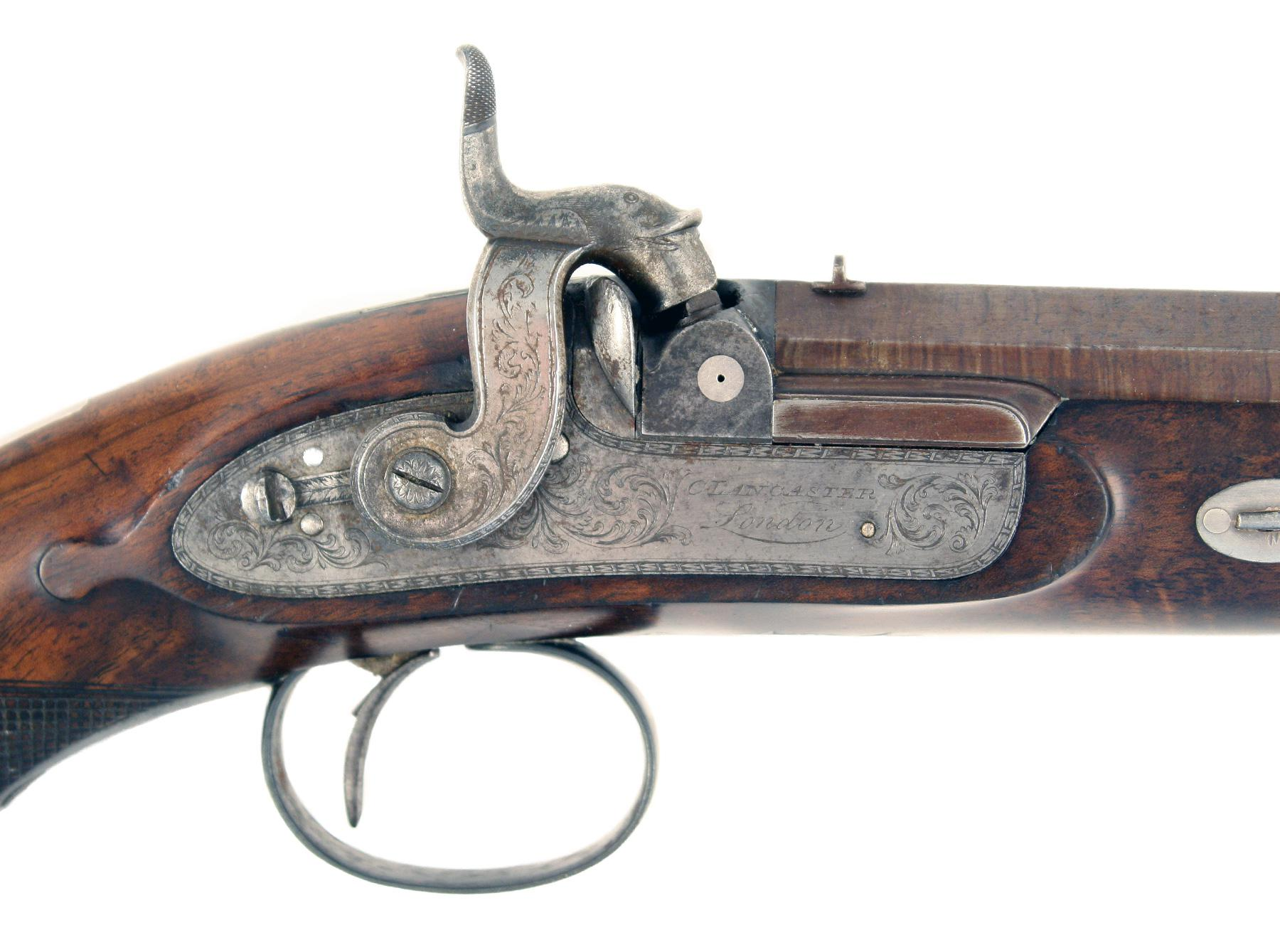A Pair of Percussion Pistols by C. Lancaster No. 348