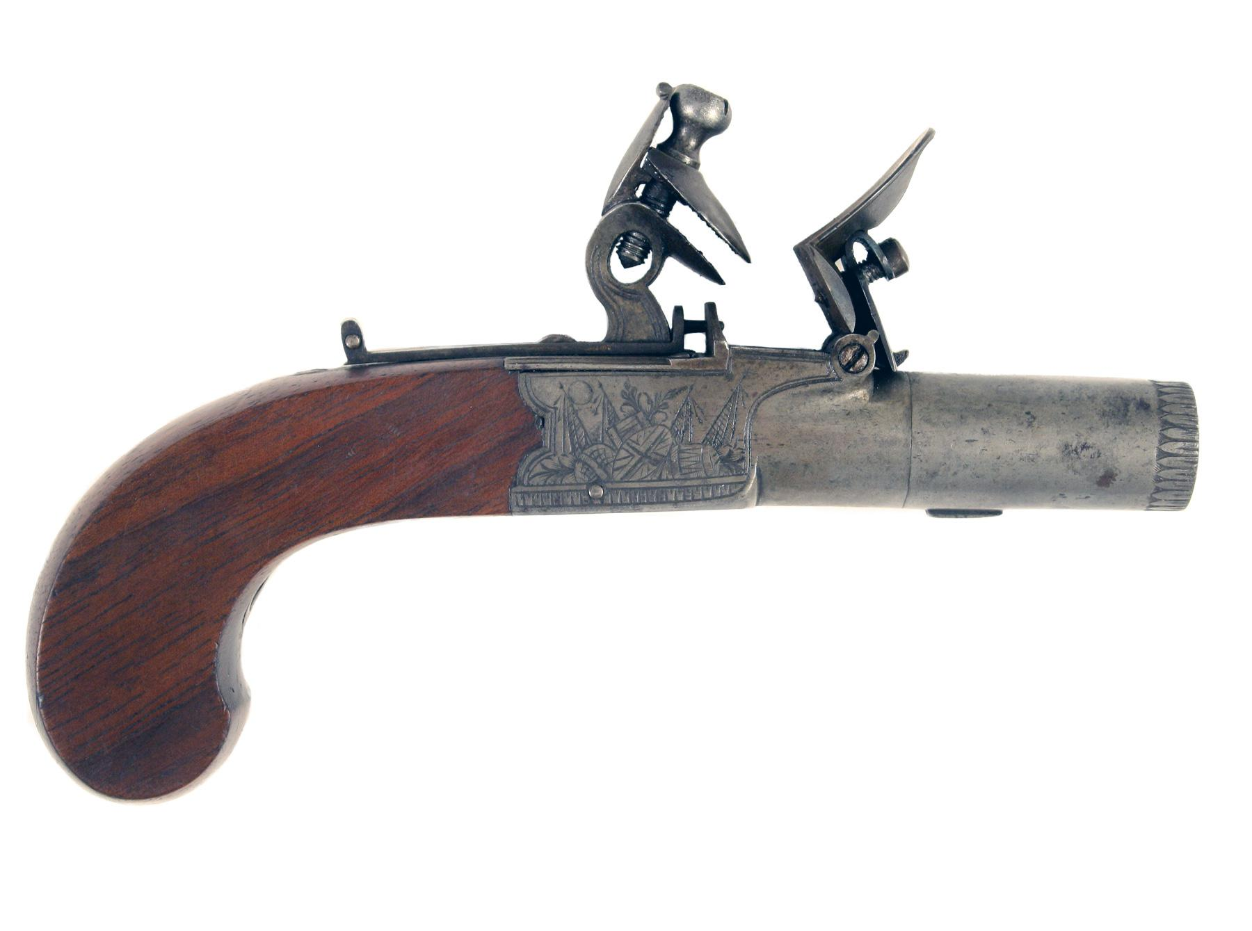 A Crisp Flintlock Pocket Pistol