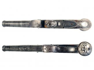 A Silver Mounted Flintlock Pocket Pistol