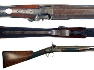 A Percussion Rifle by Witton of London.