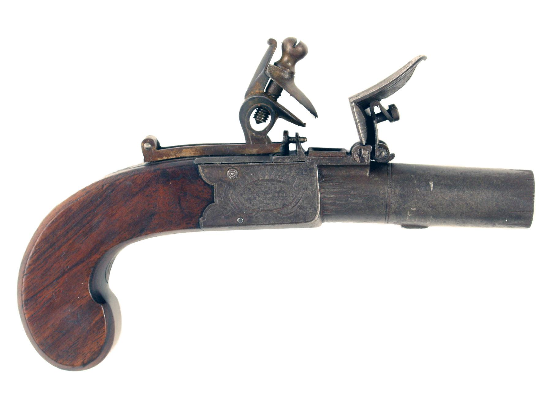 A Rifled Flintlock Pocket Pistol