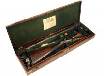 A Cased Rifle by Manton
