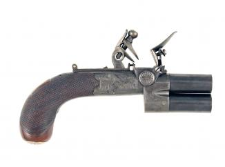 A Round Framed Tap-Action Pistol by E. Gill