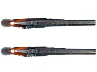 A Pair of Near Mint Percussion Duelling Pistols