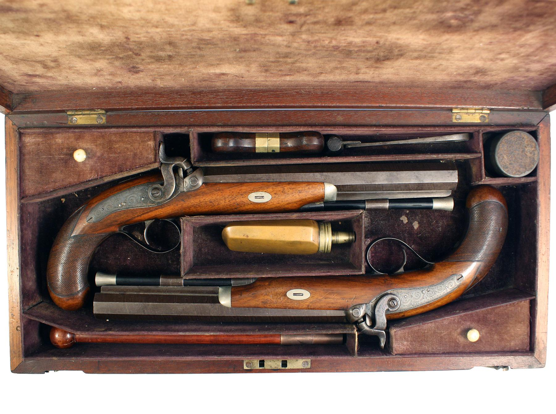 A Cased Pair of Pistols by Chance of London
