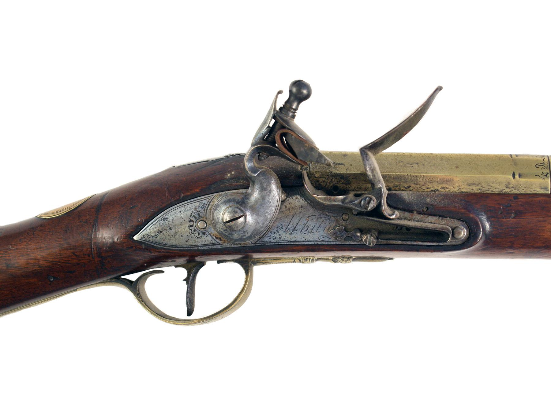 An Irish Brass Barrelled Flintlock Blunderbuss