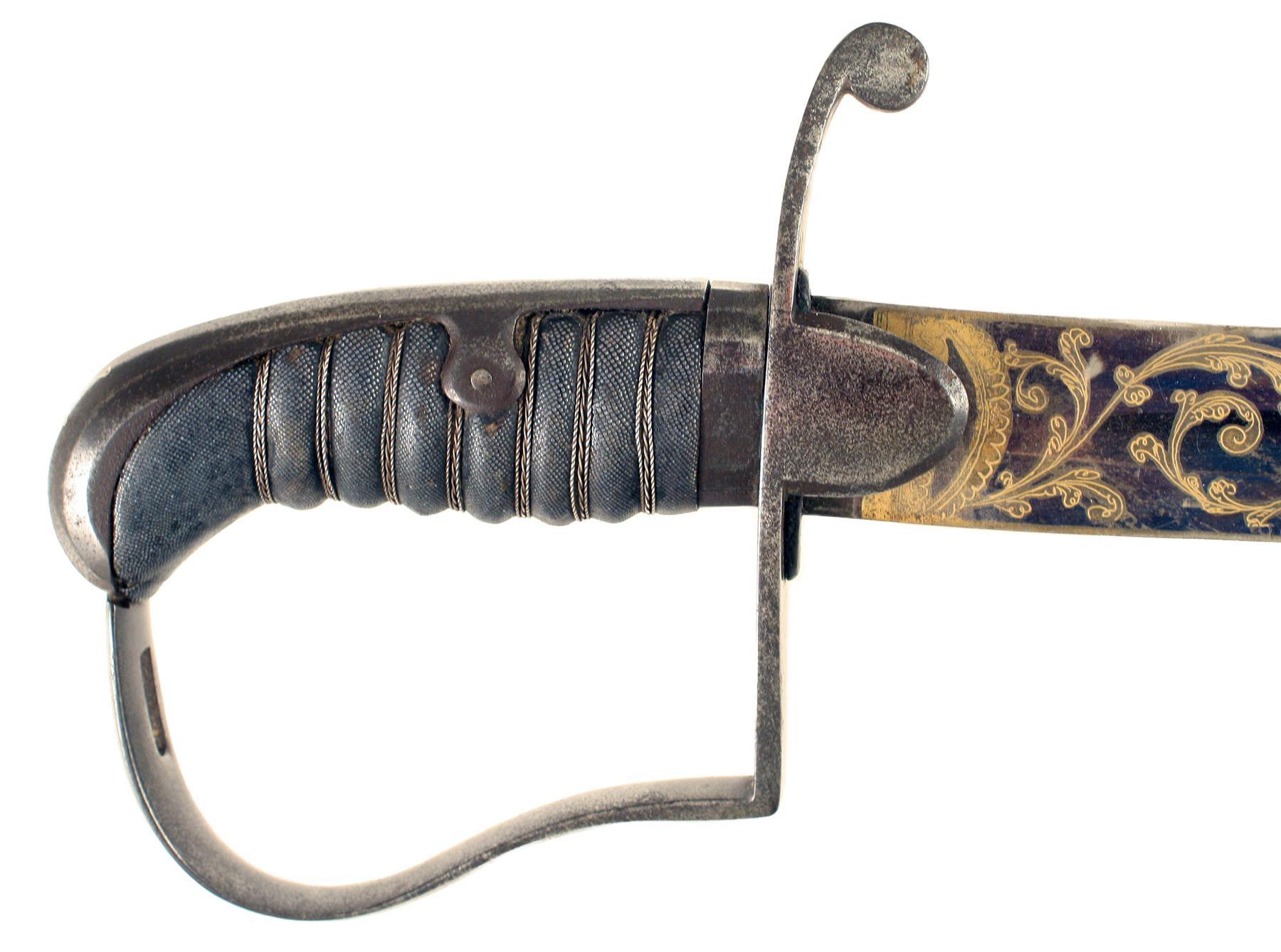 A 1796 Pattern Blue & Gilt Sword