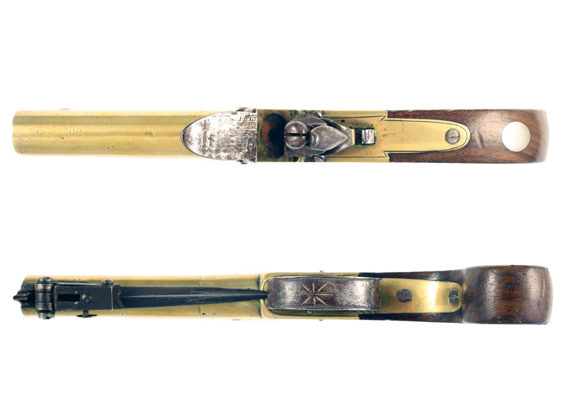 A Pair of Flintlock Bayonet Pistols