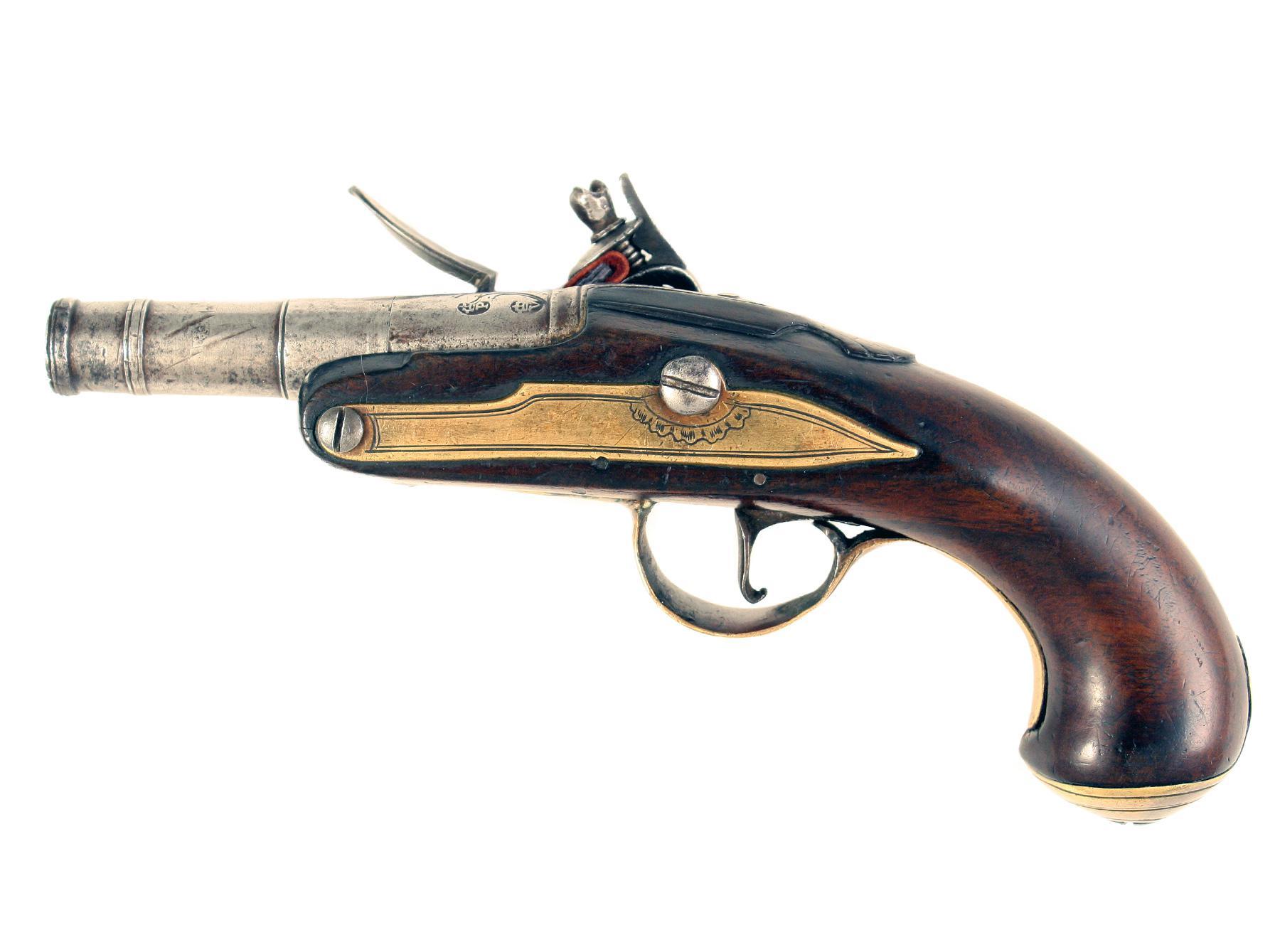 An Early Flintlock Pocket Pistol