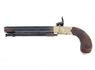 A Percussion Pocket Pistol by Child, London.