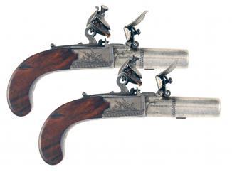 A Fine Pair of Flintlock Pocket Pistols by D.Egg