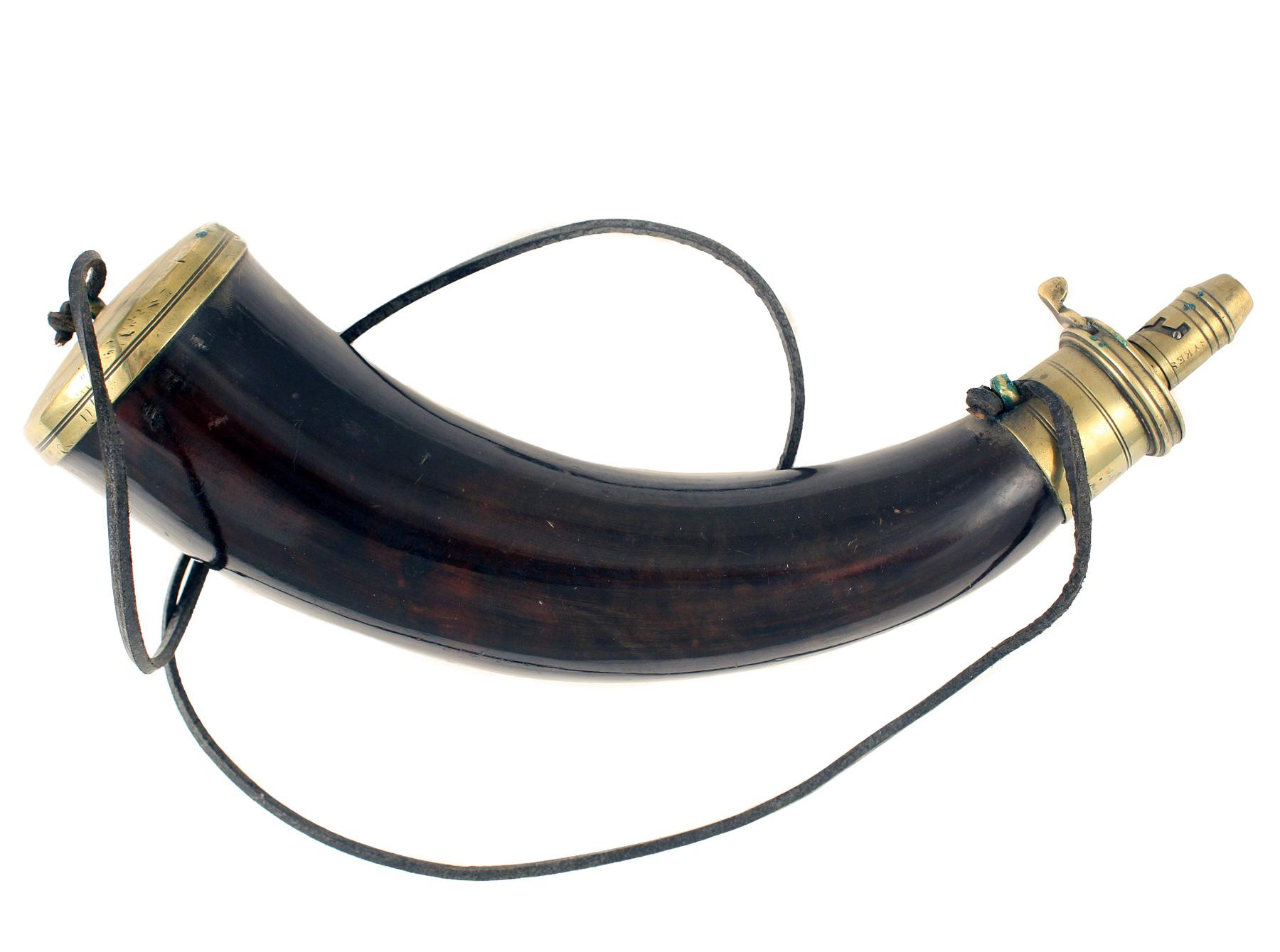 A 'Sykes Patent' Powder Horn