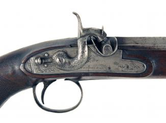 A Percussion Officers Pistol