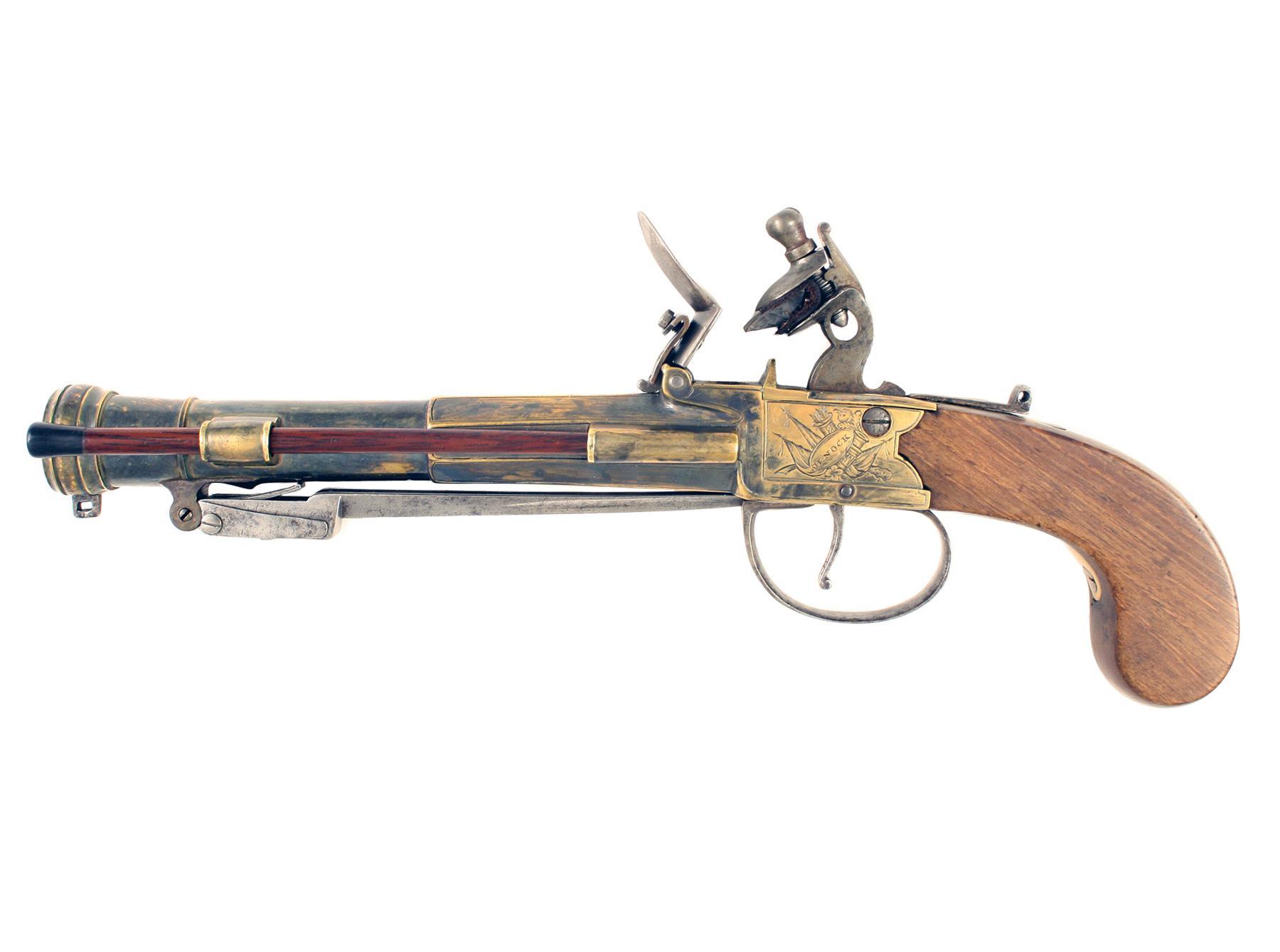 A Flintlock Blunderbuss Pistol by Nock