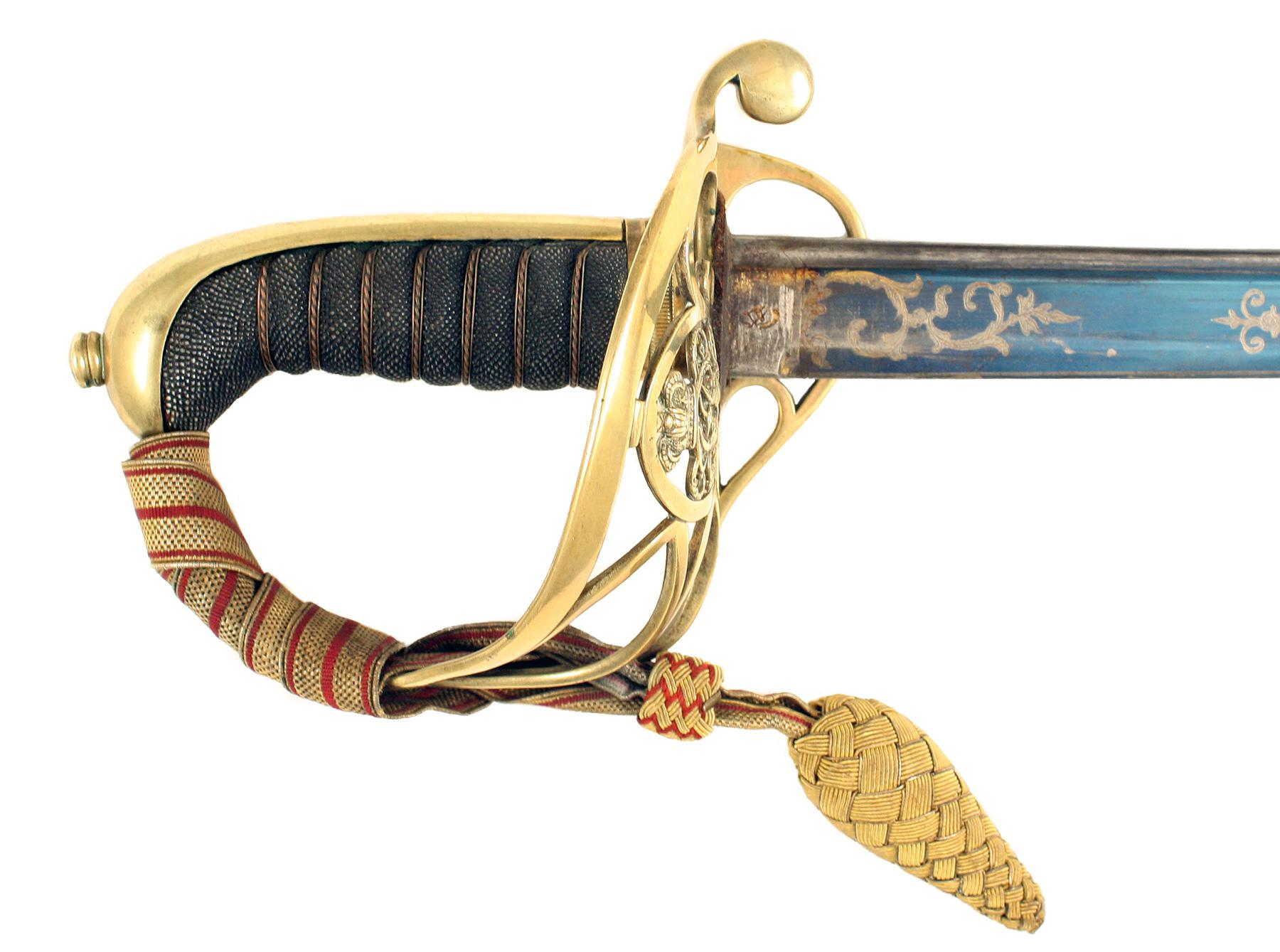 A Blue & Gilt Sword