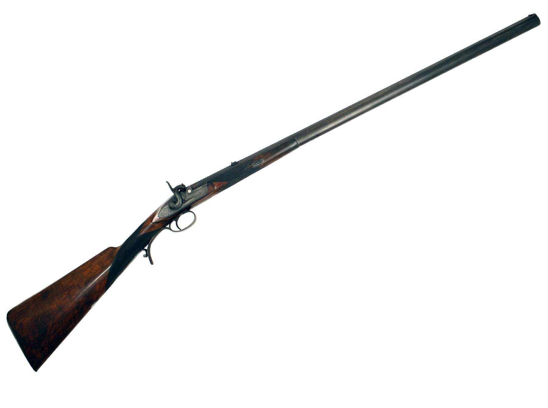 A Percussion Park Rifle by J. W. Edge